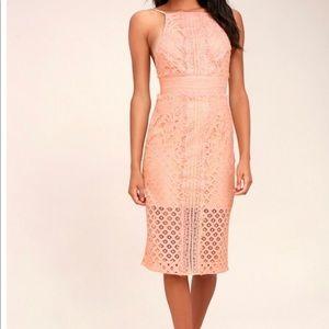 Keepsake Bridges Lace Midi Dress - like new!